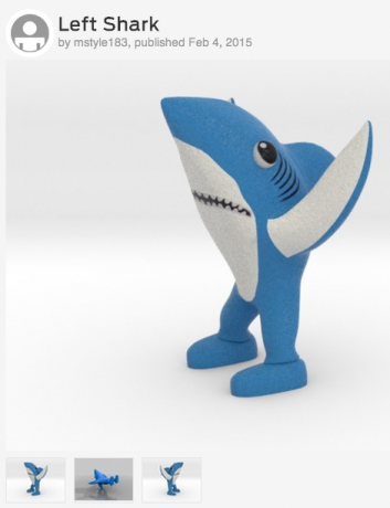Sosa's Left Shark 3D figurine is available for download on thingiverse.com
