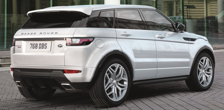 The back of the Range Rover Evoque