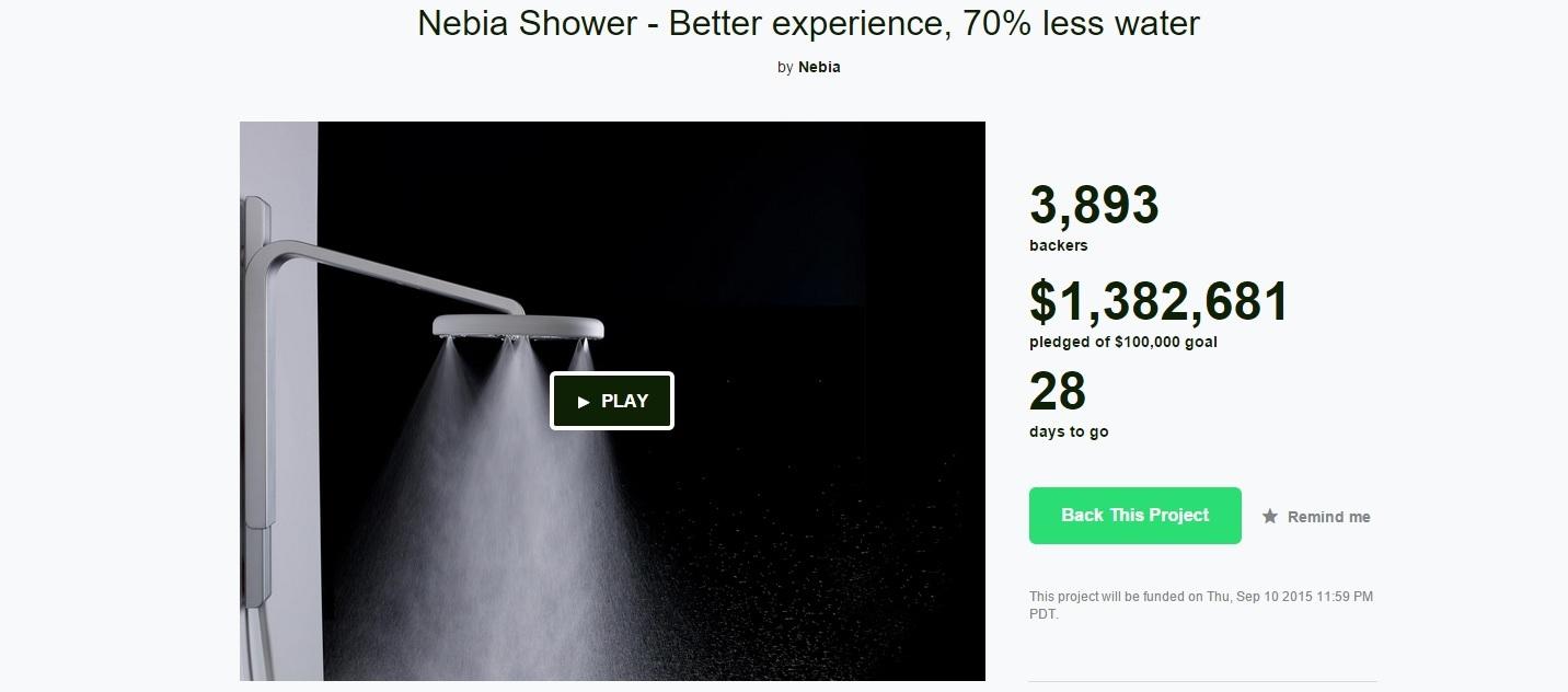 Nebia Kickstarter